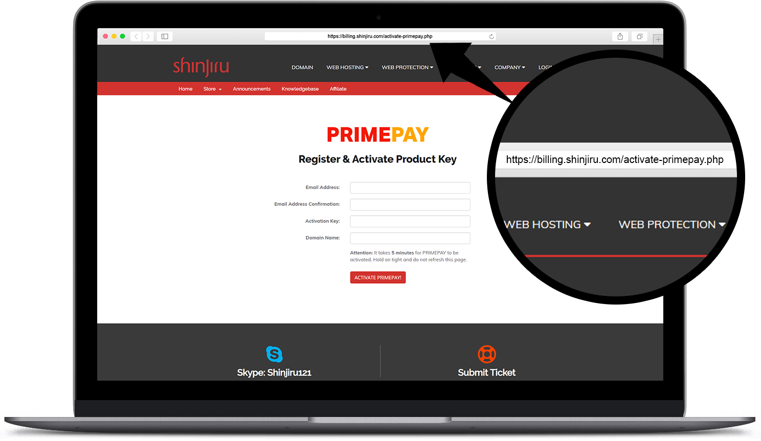 Go to this https://billing.shinjiru.com/activate-primepay.php